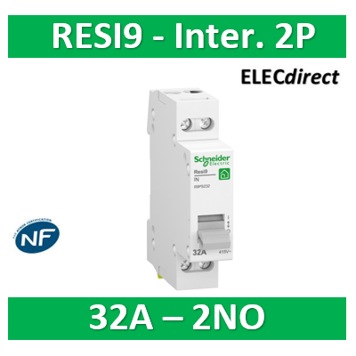 Schneider - Resi9 XP - interrupteur - 2P - 32A - 2NO - 250VCA - R9PS232