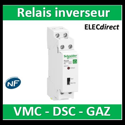 Resi9 XP - relais inverseur pour VMC - DSC - gaz - R9PCR