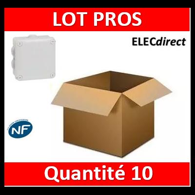 Legrand - Boîte de dérivation carrée Plexo gris - 130 x 130 x 74 mm - 092032x10