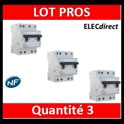 Legrand - Disjoncteur 4P DX3 - 32A - 6kA - courbe C - 406913x3