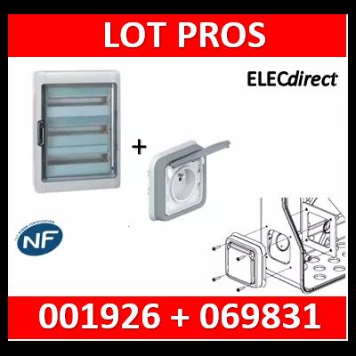 Legrand - Coffret étanche Plexo 54 modules - 3 rangées + PC Plexo encastrée - IP65/IK09 - 001926+069831