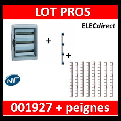 Legrand - Coffret Plexo 4x18 modules avec embouts à perf. + peigne vertical + peignes hori. - 001927+405005+404928x8
