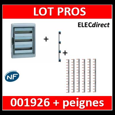 Legrand - Coffret étanche Plexo 54 modules - 3 rangées - IP65/IK09 + peigne vertical + peignes Hori. - 001926+405004+404928x6