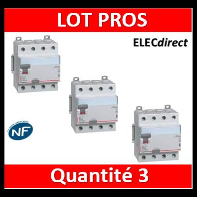 LEGRAND - Interrupteur différentiel DX3-ID 4P 40A - 30mA - A - 411675x3