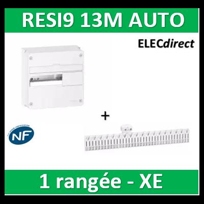 Schneider - Resi9 - coffret 13M - 1R + peignes PH+N Schneider - AUTO XE - R9H13401+R9EXHC13