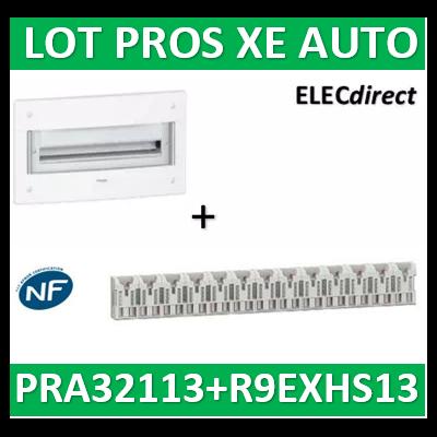Schneider - Coffret électrique PRAGMA - encastré - 13 modules - 1 rangée de 13M + peignes XE - PRA32113+R9EXHS13