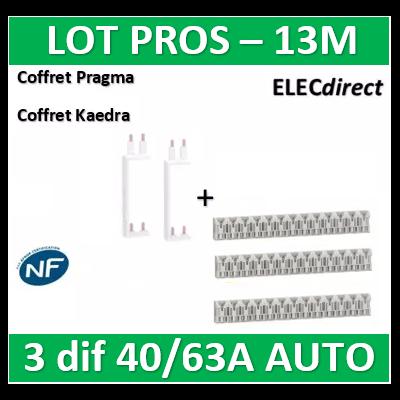 Schneider - Resi9 XE Peigne vertical 2 rangées entraxe 150mm pour Différentiel XE (AUTO) + peignes - R9EXV150x2+R9EXHS13x3