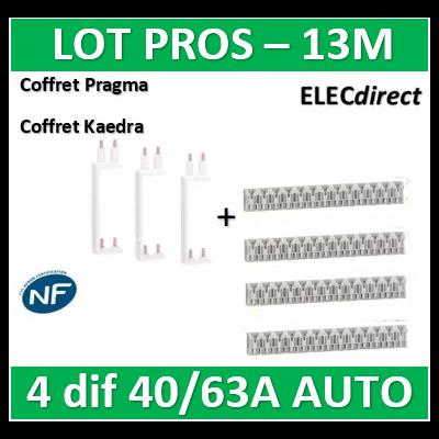 Schneider - Resi9 XE Peigne vertical 2 rangées entraxe 150mm pour Différentiel XE (AUTO) + peignes - R9EXV150x3+R9EXHS13x4