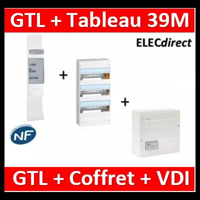 Legrand - Kit GTL 13M complet + tableau 39M + VDI 4RJ45 Hager - 030037+401213+TN305