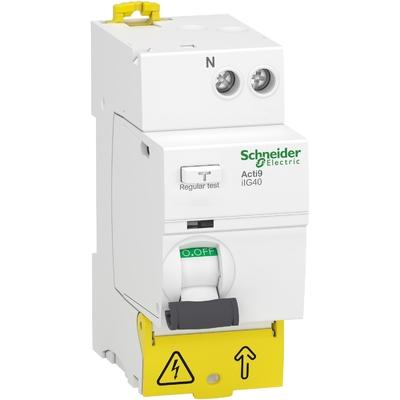 Schneider - Acti9 iIG40 - interrupteur différentiel tête de groupe - 1P+N 40A 30mA type AC - A9R67640