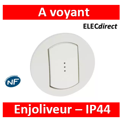 Legrand Enjoliveur simple à voyant Céliane IP44 067803