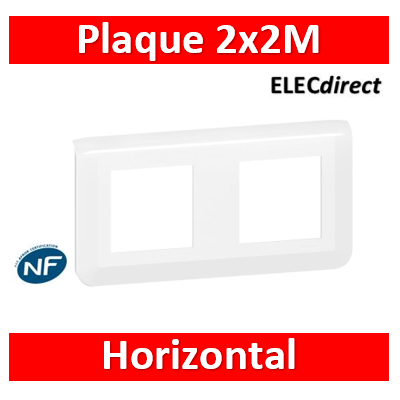 Legrand Mosaic - Plaque 2 x 2 modules - 2 postes (4M) - horizontal - 078804L