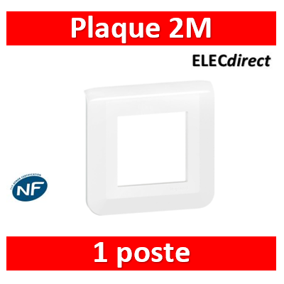Legrand Mosaic - Plaque 2 modules - 1 poste - 078802L