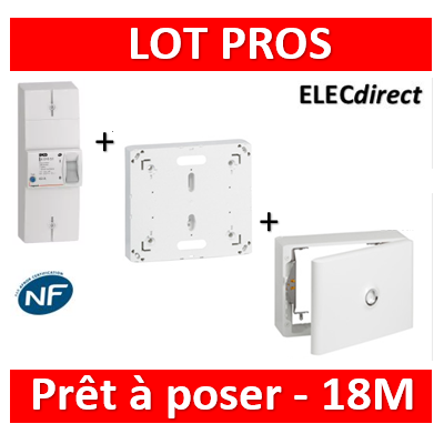 Legrand - Disjoncteur de branchement EDF 18M + platine + habillage + porte - 401006+401191+401189