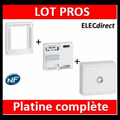 Legrand - Platine disjoncteur + compteur + rehausse pour platine + Cache 13M blanc - 401380+401181+401185