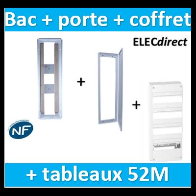 SIB - Bac métal 1 travée 13 - coffret 4R + platine + coffret com. + porte + Schneider coffret 52M - P06464+P06114+R9H13404