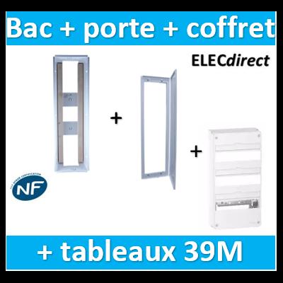 SIB - Bac métal 1 travée 13 - coffret 3R + platine + coffret com. + porte + Schneider coffret 39M - P06463+P06113+R9H13403