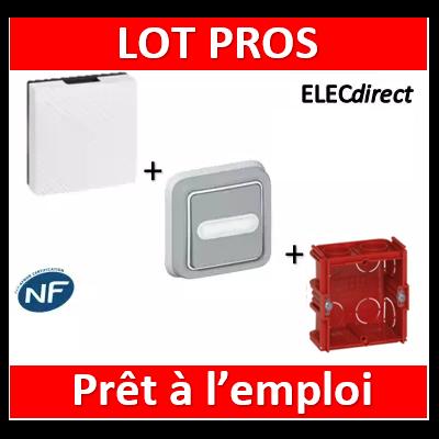 Legrand - Carillon 230V + bouton poussoir lumineux Plexo + Boîte Batibox