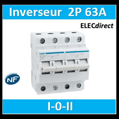 Hager - Inverseur 2 pôles 63A I-0-II - SF263