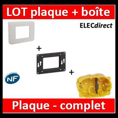 Legrand Batibox - Boîte multiposte Batibox cloisons sèches pour Mosaic 3 modules - prof 40mm - 080049+080259+078803
