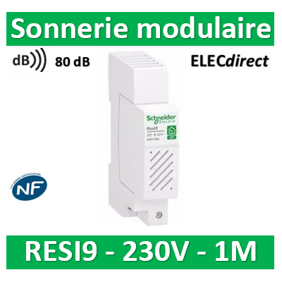 Schneider - Sonnerie modulaire Resi9 XP 230V - 80dB - R9PCBS