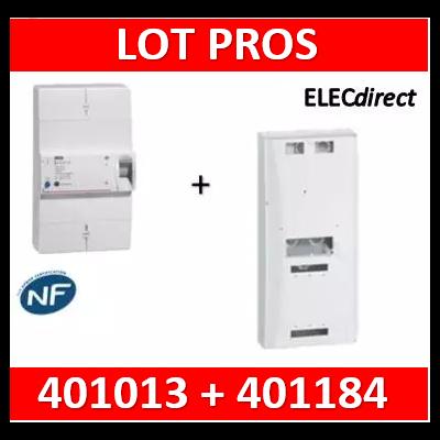 Legrand - Disjoncteur de branchement ERDF - 4P 30/60A 500 MA Sélectif + platine tri - 401013+401184