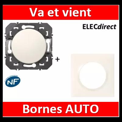 Legrand - Interrupteur ou va-et-vient Legrand dooxie 10AX 250V finition + plaque blanc - 600001+600801