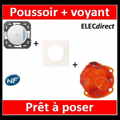 Legrand - Poussoir + voyant lumineux + sonnette dooxie 6A 250V~ finition blanc - 600018+600801+080101