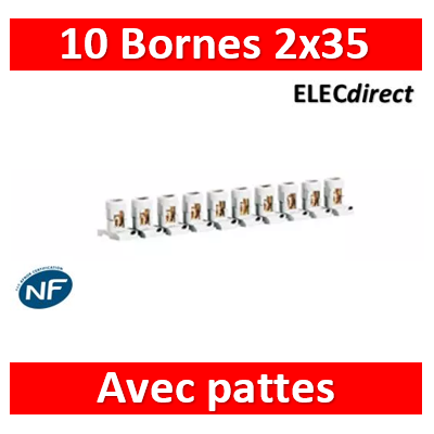 Legrand - Barrette de 10 bornes séparables 2 x 35 mm2 LEG034004