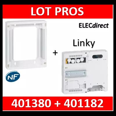 Legrand - Platine disjoncteur + compteur + rehausse pour platine compteur linky - 401380+401182