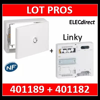 Legrand - LOT PROS - Platine pour Disjoncteur branchement + Compteur - DRIVIA 18M + habillage + porte - 401182+401189