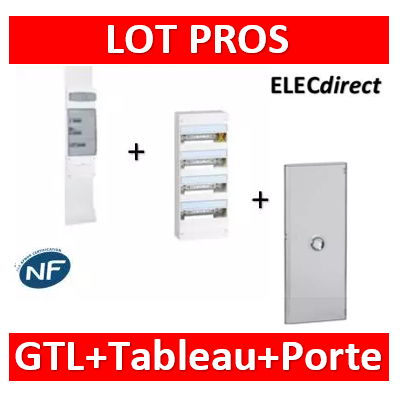 Legrand - Kit GTL 13M complet + tableau 52M + porte - 030037+401214+401344