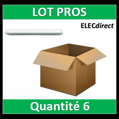 Boitier Etanche LED Intégrées Traversant 24W 4000°K IP65 600mm - 7585x6