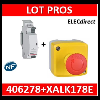 Legrand - Déclencheur à émission de tension 110 à 415V (ET) + arrêt d'urgence - 406278+XALK178E