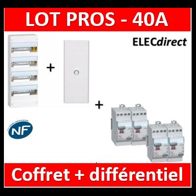 Legrand - Coffret DRIVIA 52 Modules + porte + dif 40A ACx3 + dif 40A A 30mA - 401214+401334+411611x3+411617