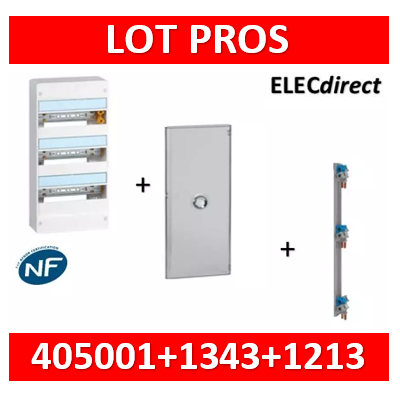 Legrand - LOT PROS - Coffret DRIVIA 39 Modules + porte + peigne VX3 - 401213+401343+405001