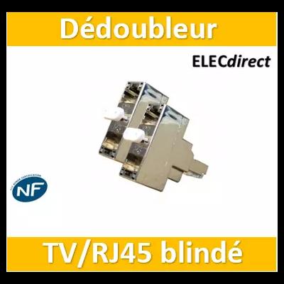 Casanova - Dédoubleur TV ou TEL/internet blindé par paire - H54001x2