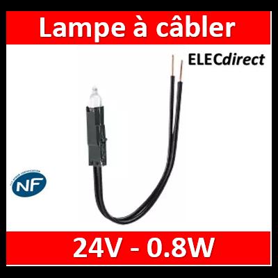 Legrand Oteo - Lampes à câbler 24 V - incandescent blanc - consommation 0,8 W - 089902