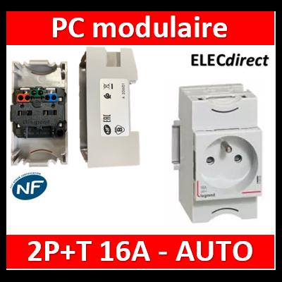 Legrand - PC 2P+T 16A 220V  à  Eclips Modulaire - 004280
