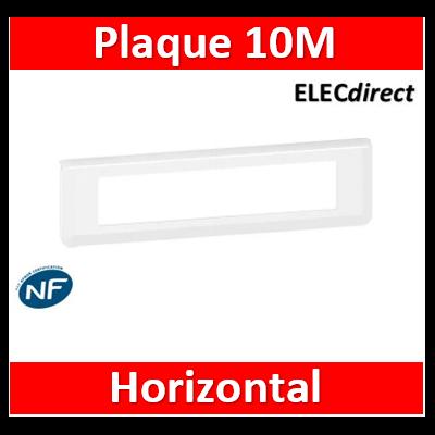Legrand  Plaque de finition horizontale Mosaic pour 10 modules blanc 078810L