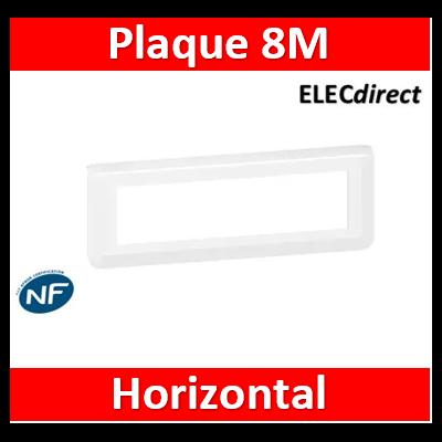 Legrand Plaque de finition horizontale Mosaic pour 8 modules blanc 078818L