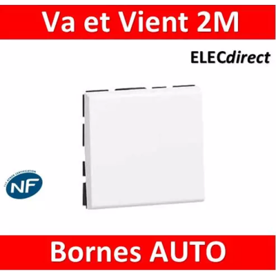 Legrand Interrupteur ou va-et-vient 10AX 250V~ Mosaic Easy-Led 2 modules - blanc 077011L