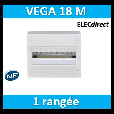 Hager  Coffret Vega largeur 18 modules hauteur 1 rangée VB118A