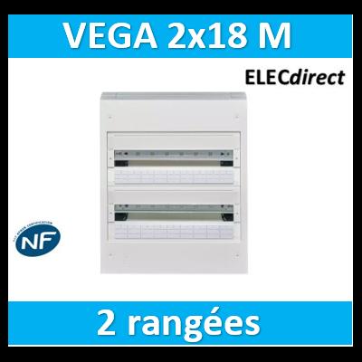 Hager Coffret Vega largeur 18 modules hauteur 2 rangées VB218A