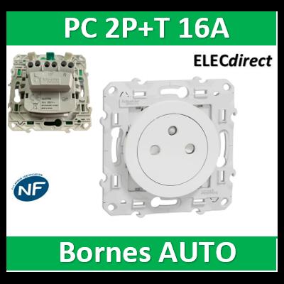 Schneider Electric - Prise 2P+T affleurante blanc - S520052