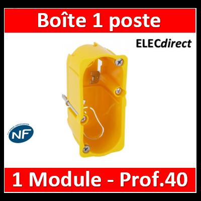 Legrand Batibox - Boîte monoposte Batibox - cloison sèche - pour Céliane/Mosaic - 1 mod - prof. 40 - 080040