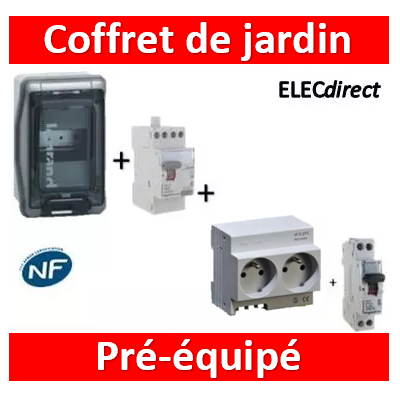 Legrand - LOT PROS - Coffret de jardin IP65 - 04564 + 406774 + 411611 + 001908
