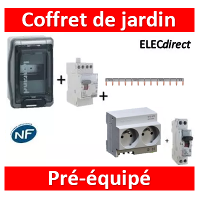 Legrand - LOT PROS - Coffret de jardin IP65 - 04564+406774+411611+001908+404926