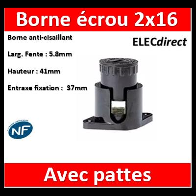 Legrand - Borne écrou 6 pans avec pattes 2 x 16 mm2 - 034042