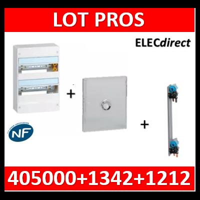 Legrand - LOT PROS - Coffret DRIVIA 26 Modules + porte + peigne - 401212+401342+405000